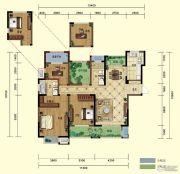 弘阳广场4室2厅2卫143平方米户型图