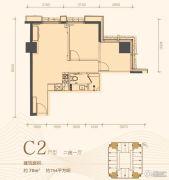 利是达星际广场1室1厅1卫70平方米户型图