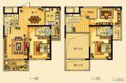海星御和园3室2厅3卫148平方米户型图