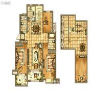 碧桂园银亿・大城印象3室2厅2卫142平方米户型图