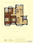 金域明珠4室2厅3卫138平方米户型图