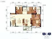 美的西海岸3室2厅2卫118平方米户型图