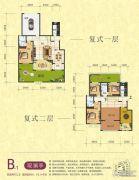 梦幻谷・�|方�A府4室2厅3卫275平方米户型图