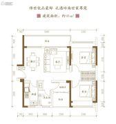 泰禾佛山院子3室2厅1卫93平方米户型图