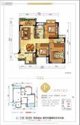 美宇白马湖水街3室2厅2卫94平方米户型图