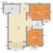 宏运海河湾2室1厅1卫61平方米户型图