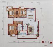 百丰花园3室3厅3卫121平方米户型图
