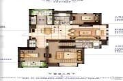 橡树城3室2厅2卫139平方米户型图