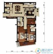 华远九都汇3室2厅3卫206平方米户型图
