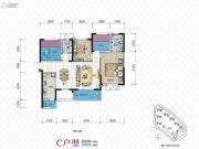 合能・璞丽4室2厅2卫121平方米户型图
