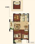 浙大网新未来郡3室2厅1卫88平方米户型图