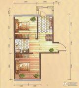 卓扬中华城2室1厅1卫63平方米户型图