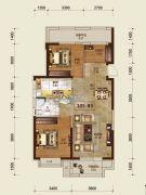 吉林昌邑万达广场3室2厅1卫105平方米户型图