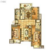 碧桂园银亿・大城印象3室2厅2卫122平方米户型图