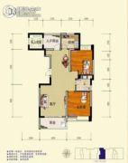 旺佳・华府2室2厅1卫109平方米户型图