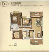 城北滨江河畔2室2厅1卫79平方米户型图