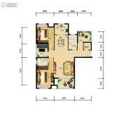 江陵・阳光华府3室2厅2卫119平方米户型图
