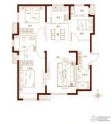 金茂湾3室2厅2卫124平方米户型图