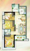 北部万科城3室2厅1卫79平方米户型图
