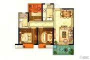 招商雍和府3室2厅1卫88平方米户型图