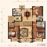 廊坊孔雀城悦府3室2厅1卫136平方米户型图