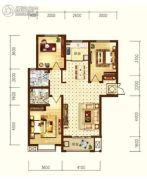 星耀东方国际城3室2厅2卫116--117平方米户型图