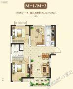 鹿鸣湖壹号3室2厅1卫0平方米户型图