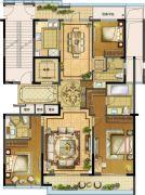江湾城二期4室2厅3卫180平方米户型图