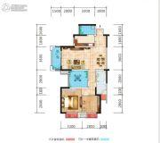 荣泰广场2室2厅1卫96平方米户型图