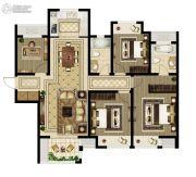 绿都澜湾4室2厅2卫140平方米户型图