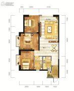 东方希望天祥广场天荟2室2厅1卫109平方米户型图