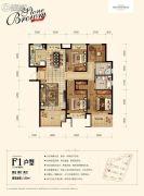 金地艺境4室2厅2卫120平方米户型图