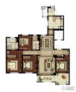 华润悦府4室2厅2卫186平方米户型图