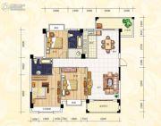 鸿德喜盈门3室2厅2卫0平方米户型图