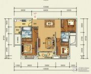 宜化・巴黎香颂3室2厅2卫118平方米户型图