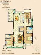 佳源广场3室2厅3卫187平方米户型图
