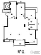 融信滨港花园2室2厅2卫124--125平方米户型图