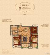 凯悦中心3室2厅1卫125平方米户型图