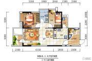 深房传麒山2室2厅1卫82平方米户型图