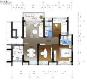 珠江源昌花园3室2厅2卫95平方米户型图