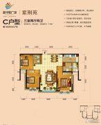 醴陵新华联广场3室2厅2卫103平方米户型图