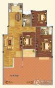瑞贝卡��水庄园4室2厅2卫144平方米户型图