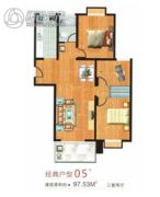 盛祥佳苑3室2厅1卫97平方米户型图