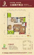 地标・海东广场3室2厅2卫108--109平方米户型图