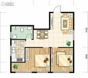 馨逸之福2室2厅1卫79平方米户型图