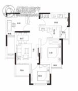 同信・滨江贰号3室2厅1卫81平方米户型图