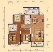 恒大御府3室2厅2卫120平方米户型图