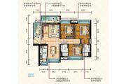 奥园领秀3室2厅2卫112平方米户型图