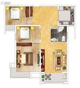 富田九鼎世家3室2厅1卫111平方米户型图