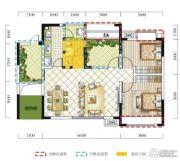 远达春天里2室2厅1卫86平方米户型图